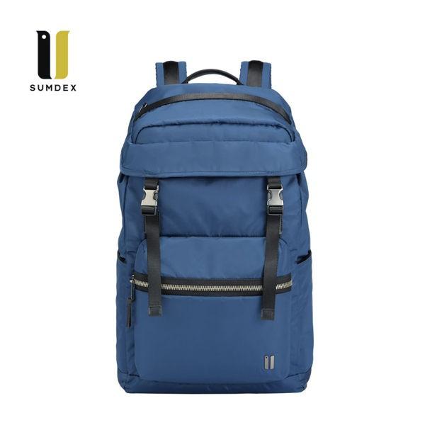 SUMDEX 15.6吋+10吋平板 輕旅潮流後背包NON-794BU藍色