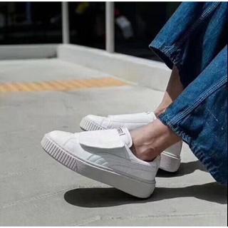 official photos 86992 bcc0a PUMA 女鞋 Basket Platform Big Strap板鞋 真皮牛皮 板鞋 時尚潮流球鞋 魔術貼鞋子