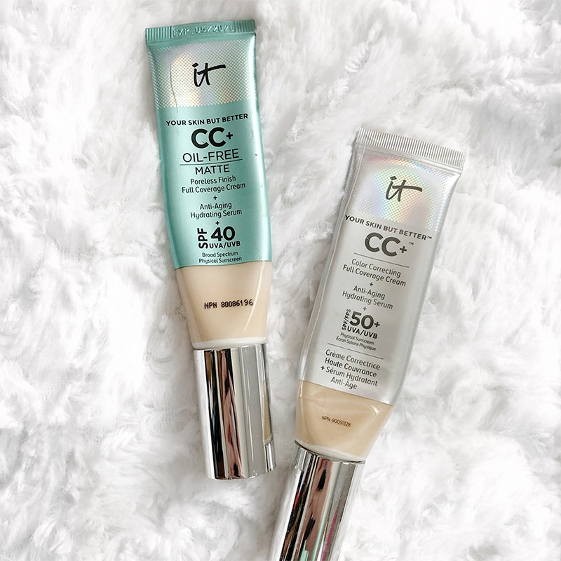 熱銷 新品 IT cosmetics 粉底液修飾乳美白高遮瑕水光防曬裸妝提亮膚色CC霜 時尚 潮流