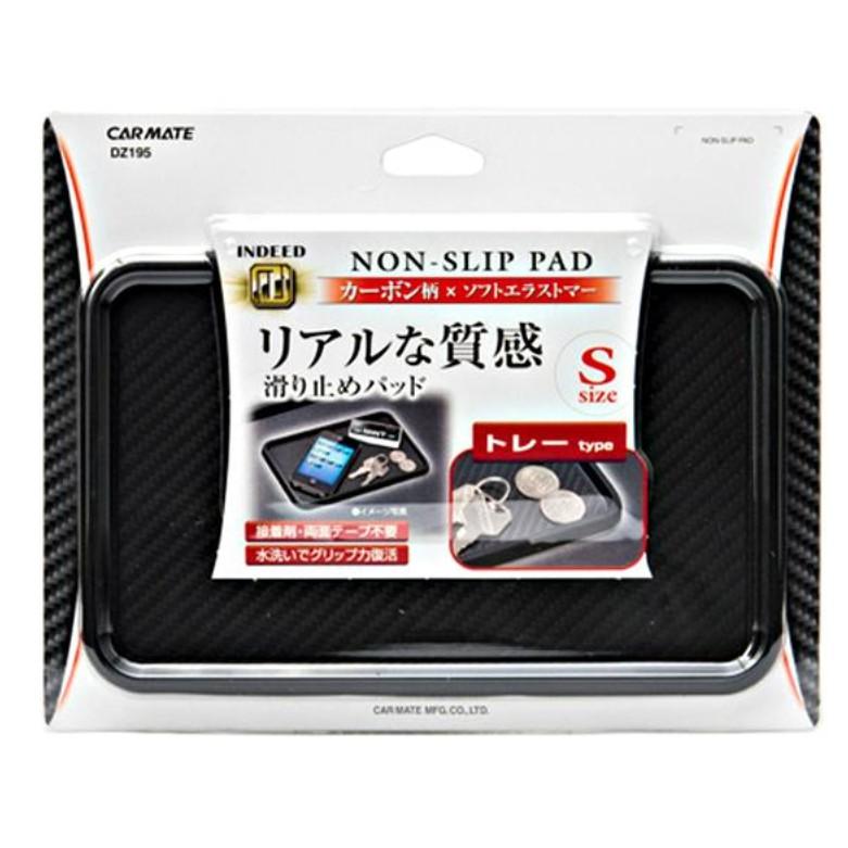 車之嚴選汽車用品【DZ195】日本CARMATE碳纖紋(carbon紋)附框止滑墊 防滑墊 - S