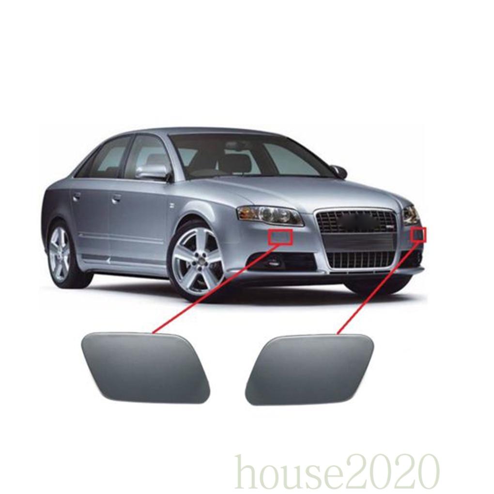 [HOUSE2020] 1 對汽車大燈清洗機噴嘴蓋蓋更換, 用於奧迪 A4 B7 2005-2008 8E 5E 8E
