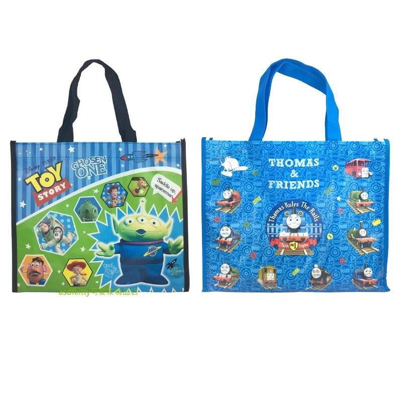 asdfkitty*玩具總動員三眼怪.湯瑪士小火車 超輕量手提袋/購物袋/收納袋/置物袋-日本正版商品