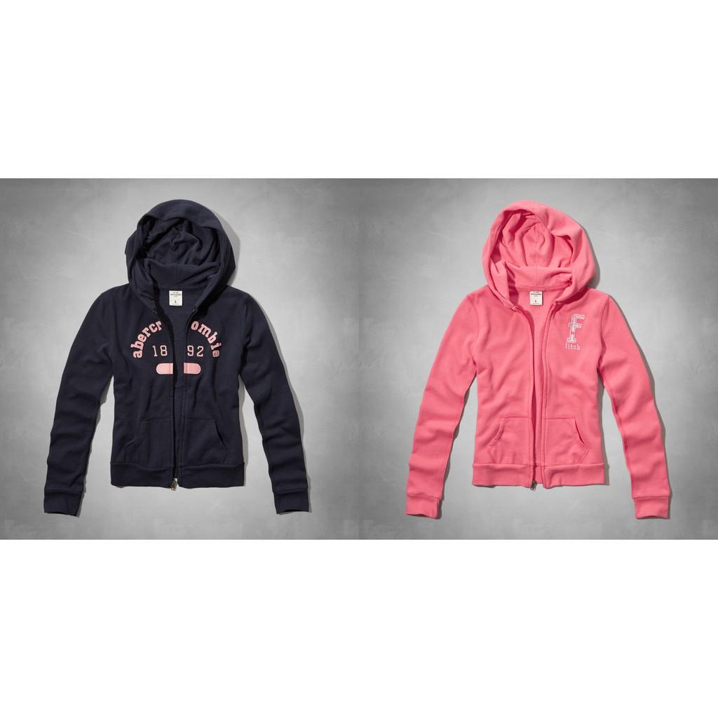 【天普小棧】abercrombie&fitch KIDS shine logo hoodie閃亮logo連帽運動外套XL