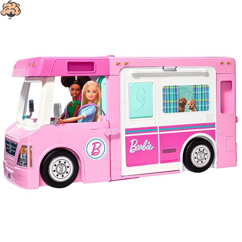 Barbie芭比夢想房車芭比娃娃救護車診所女孩過家家玩具豪宅露營車