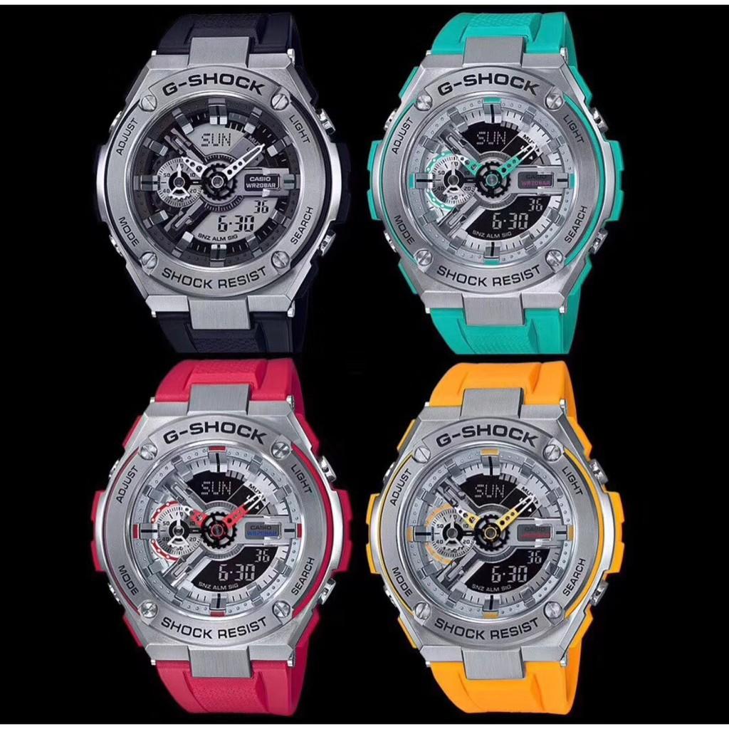 卡西歐錶 正品casio G-SHOCK T400系列 電子錶 賽車錶 男女手錶腕錶三防運動錶 休閒時尚表