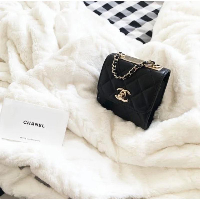 Chanel trendy cc mini bag 黑金小包💓