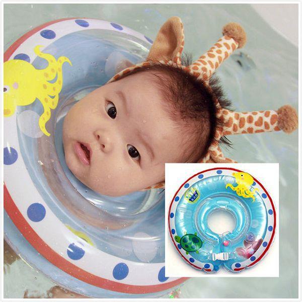 【麗兒采家】悠泳寶 YOYOBAO 嬰兒游泳脖圈 淺藍章魚