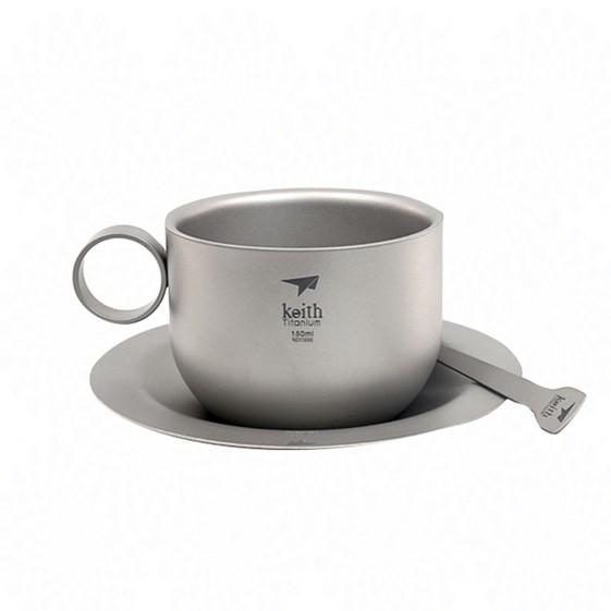【Keith純鈦】Ti3601鈦輕量咖啡杯組 鈦咖啡杯 露營 野炊 野餐《屋外生活》