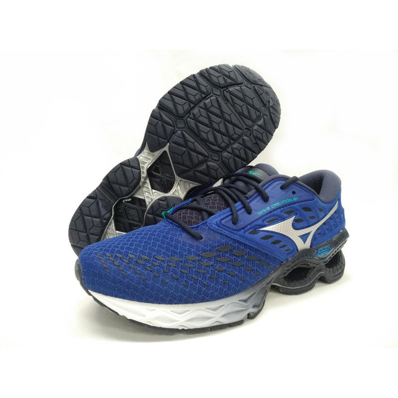 [大自在體MIZUNO 美津濃 慢跑鞋 休閒 26.5~28cm WAVE CREATION 21 J1GC200110