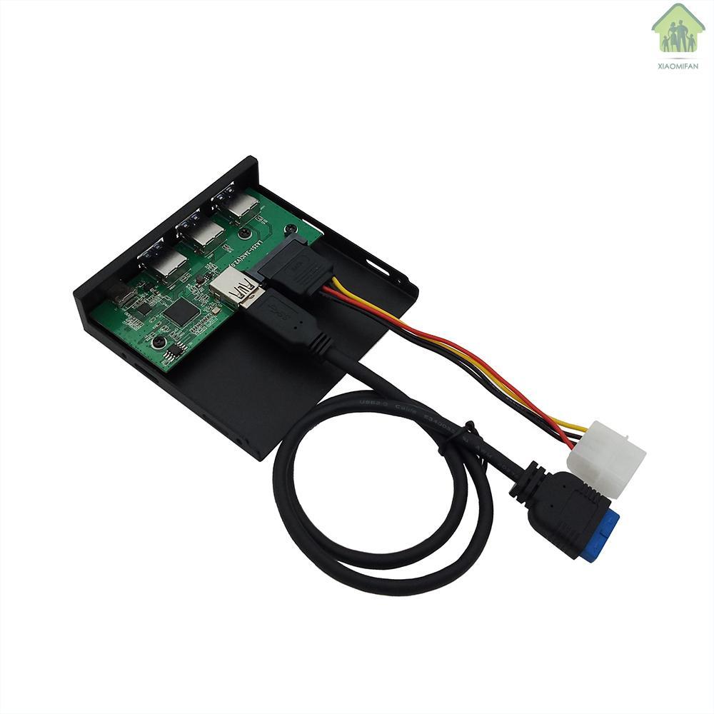 New 5.25 3.5光驅位軟驅位多功能擴展面板Type C+3 USB3.0端口前置面板擴展塢33S52-RTK