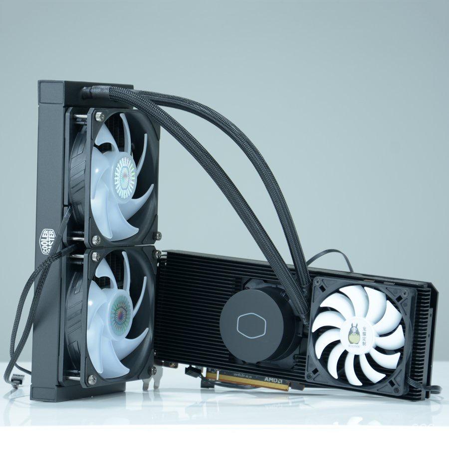 tb安心系列 RTX3070 3080 3090顯卡6800XT 6900XT一體式水冷改裝全鋁散熱器