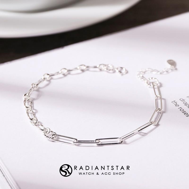 嘆息休止符二分之一鎖鏈925純銀手鍊【SL690】璀璨之星