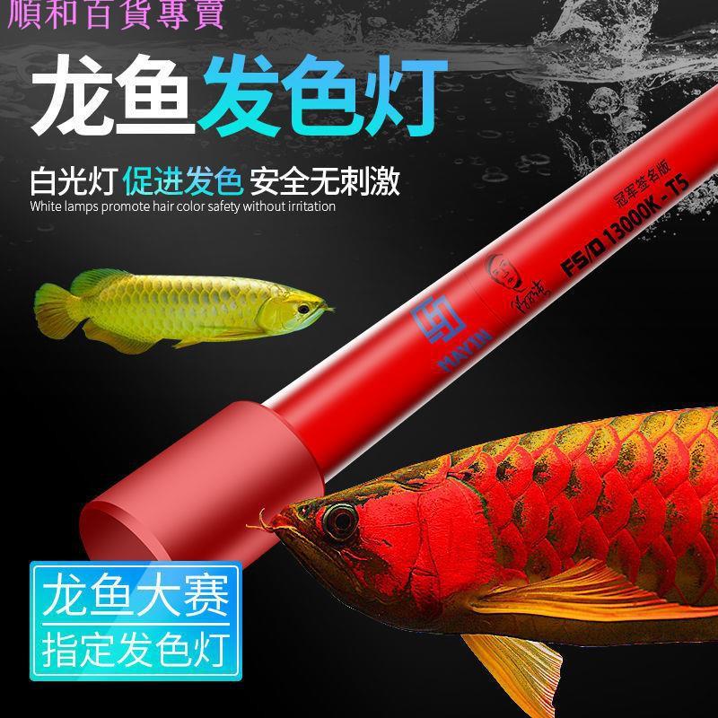 台灣出貨免運马印13000K发色灯三基色 红龙鱼专用水族鱼缸照明灯