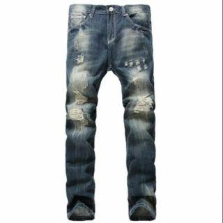 歐美 水洗 牛仔 破壞褲 嘻哈 饒舌 HIP HOP MJF 尺寸:27腰~42腰 彰化縣