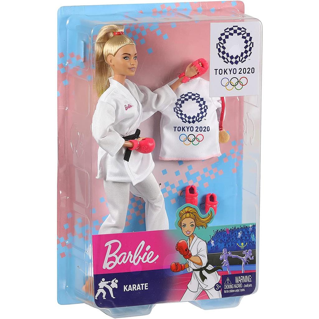 《FOS》日本 2020東京奧運 芭比娃娃 空手道 壘球 限定 公仔 女孩最愛 兒童 玩具 禮物 人偶 2021新款