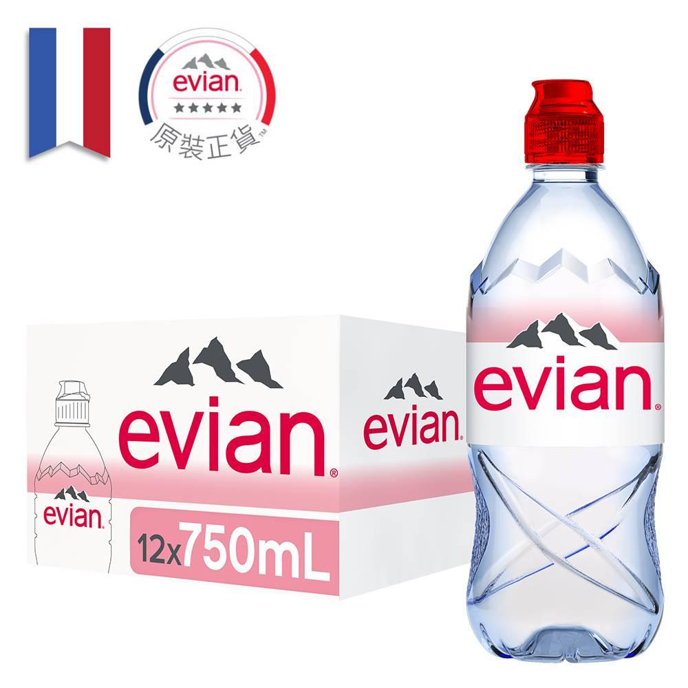 【Evian 依雲】依雲天然礦泉水750ml(12入/PET)