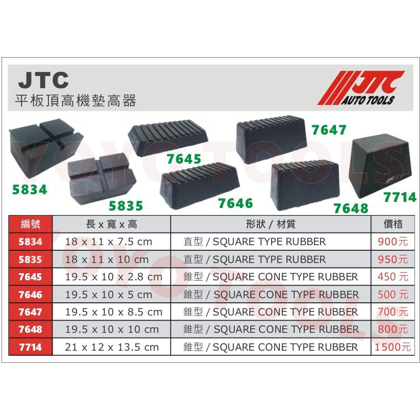 【YOYO 汽車工具】JTC 平板頂高機墊高器 / 橡膠墊 頂車機墊 黑龜墊 海綿墊 頂車墊 烏龜墊 頂高機墊 頂車塊