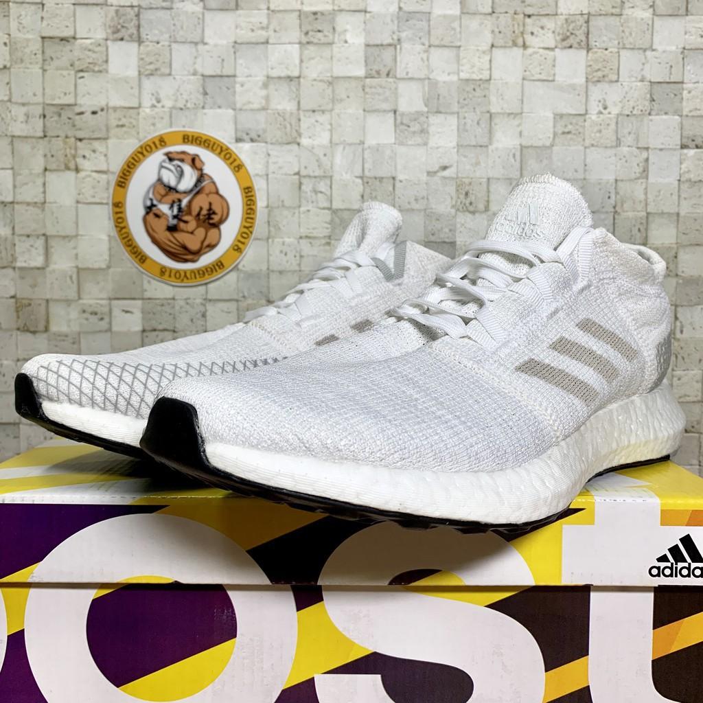 Adidas Pureboost Go 白 編織 輕量 透氣 機能 慢跑 彭于晏 男女 ah2311