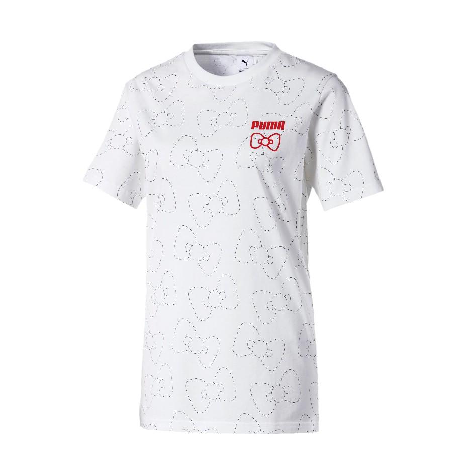 現貨S號 PUMA X HELLO KITTY 聯名 流行 短袖T恤 圓領 休閒 59723602 白 女款 歐規