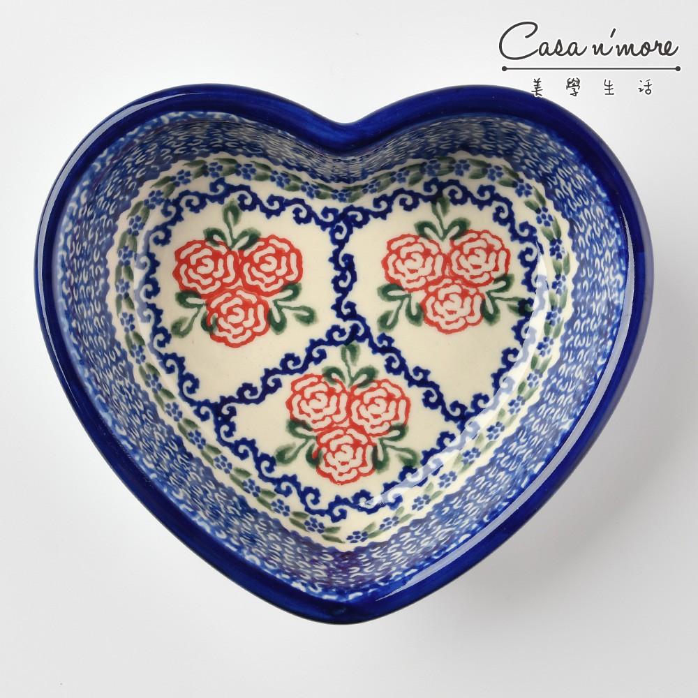 波蘭陶 漫野薔薇系列 愛心造型烤盤 蛋糕盤 烘焙模具 焗烤盤 烤皿 波蘭手工製