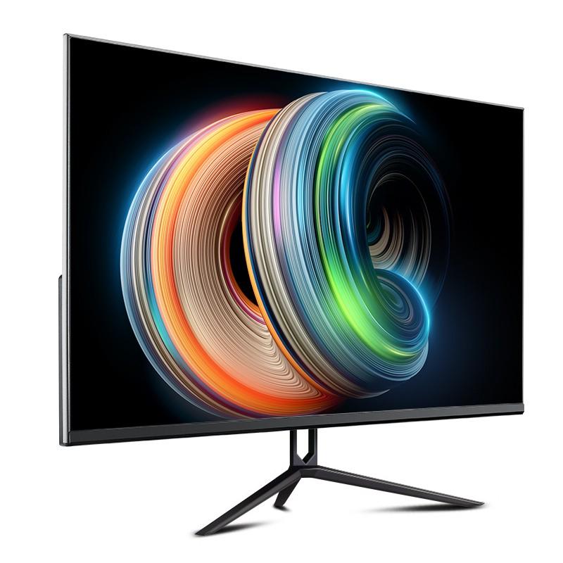 Anmite 24 吋75HZ超薄LED曲面液晶電腦螢幕顯示器hdmi HDR 27台式無邊框高清電競吃雞游戲PS4屏幕