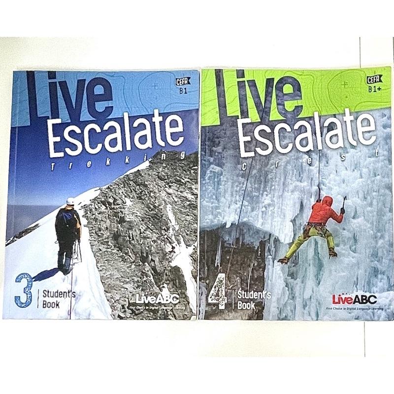 ✨[二手] Live ABC-Live Escalate 英文課本3、Live Escalate 英文課本4✨