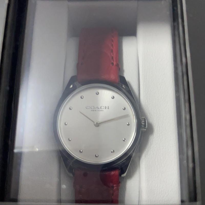 Coach 女 教練手錶 手錶 14503209紅