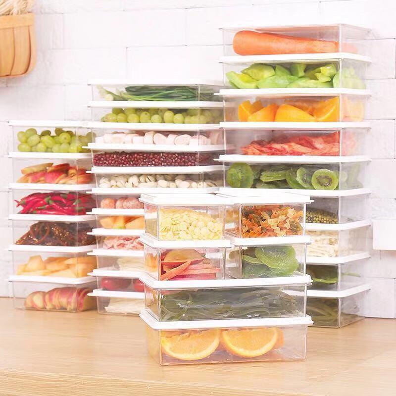 冰箱儲物盒密封保鮮盒食物分類盒現貨全場限時五折透明保鮮盒耐熱保鮮盒✽✖冰箱收納盒抽屜式長方形大儲物盒食物雞蛋保鮮盒家用