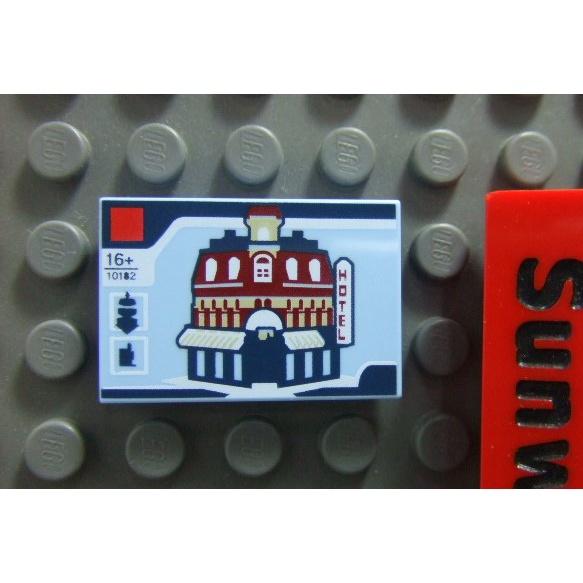 【積木2010-道具】Lego樂高-全新-10182轉角咖啡廳2X3 Tile(印刷磚片)(10255)
