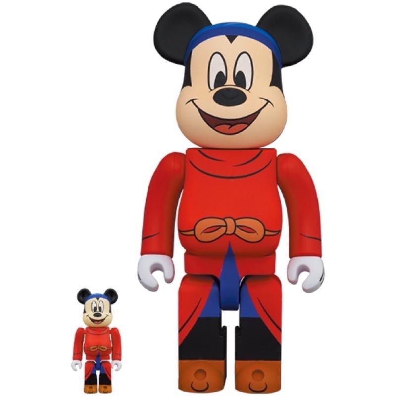 (現貨在台)BE@RBRICK 魔法米奇 魔法師 FANTASIA MICKEY 100% 400% 米老鼠