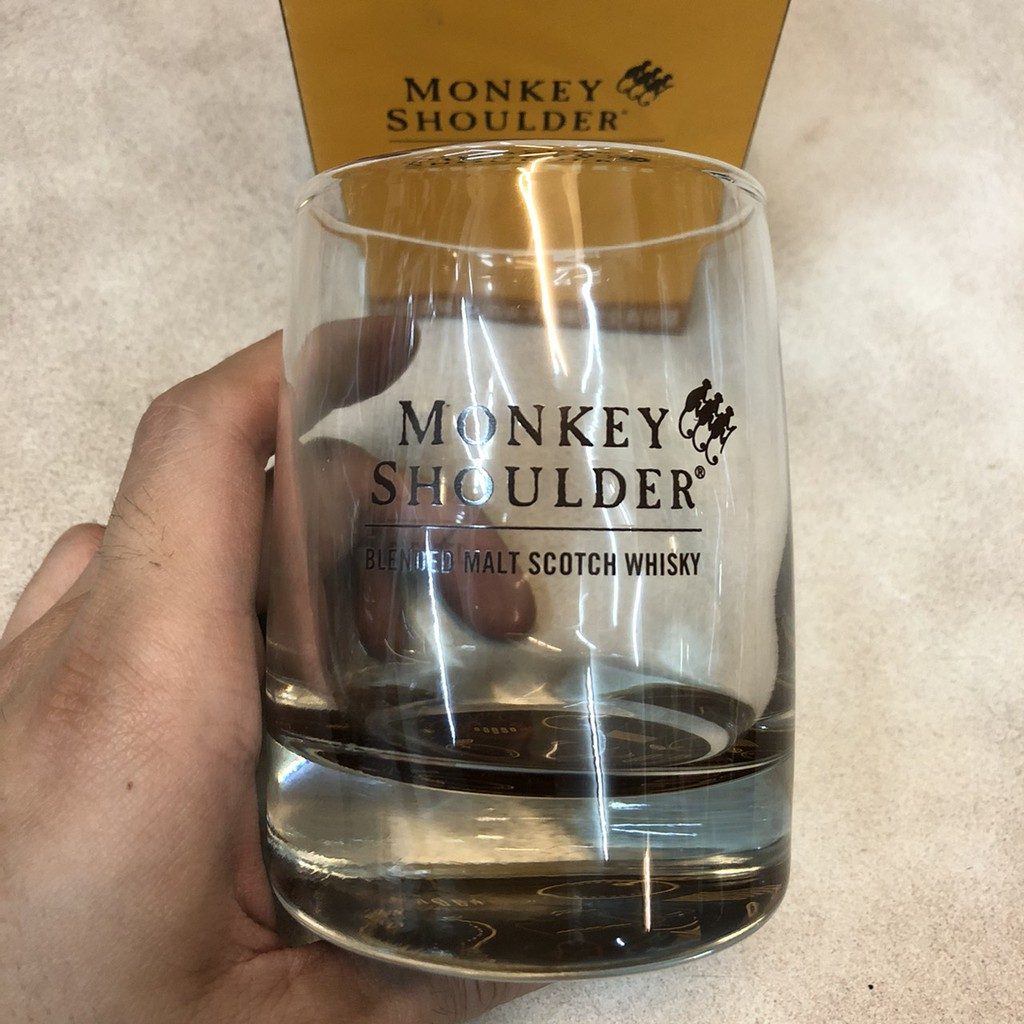 [三隻猴子 Monkey Shoulder] 經典威士忌杯(超厚杯底) 烈酒杯 無鉛玻璃杯 洋酒杯 酒杯 果汁杯 飲料杯