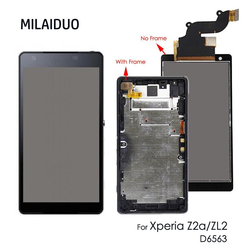 適用於索尼Z2A Z2 A 螢幕總成 液晶顯示屏 玻璃觸控面板 破裂 觸控不良 更換 簡易安裝