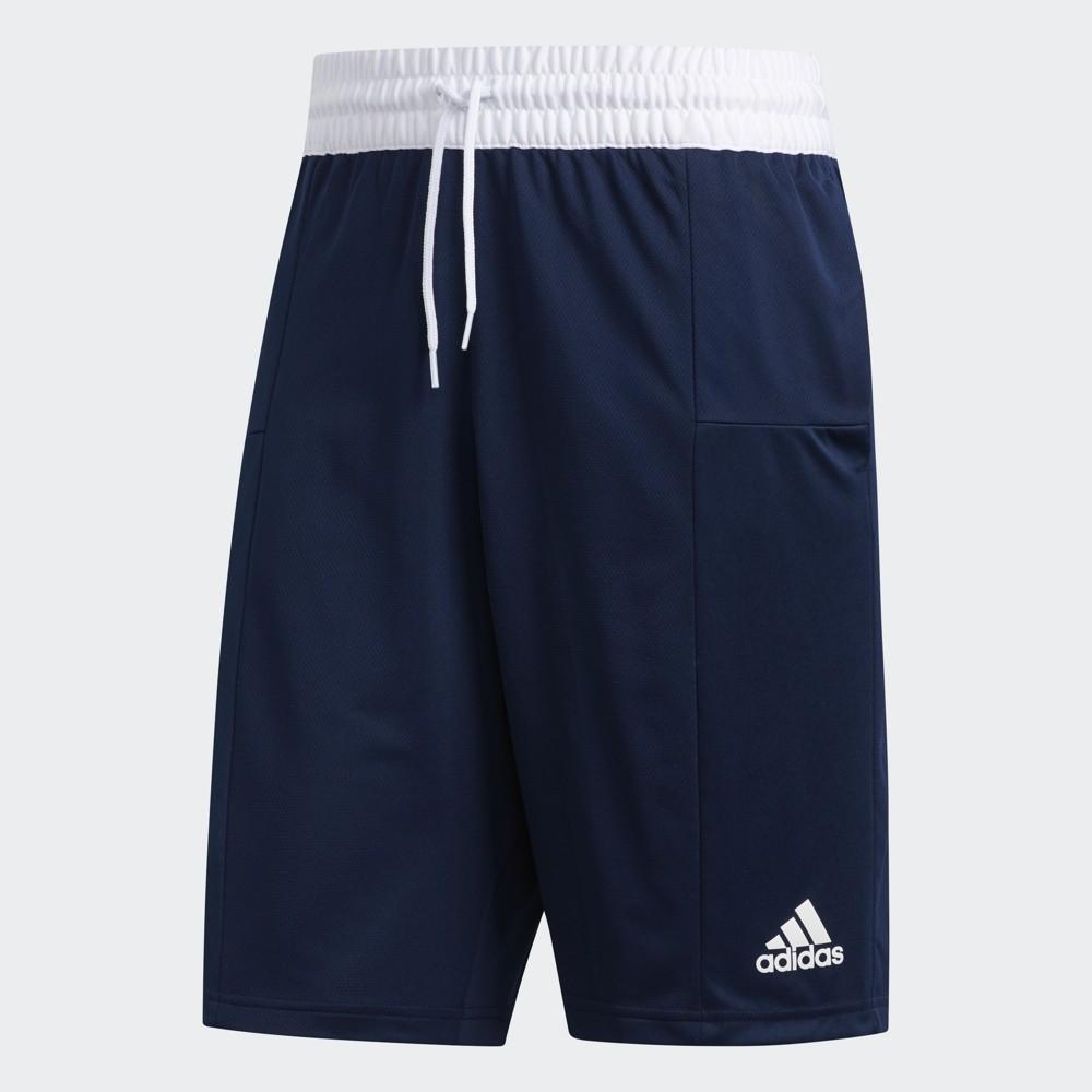 [現貨] ADIDAS 3-STRIPES SHORTS 深藍 透氣 運動 籃球 訓練 短褲 男款 DX6658 M號