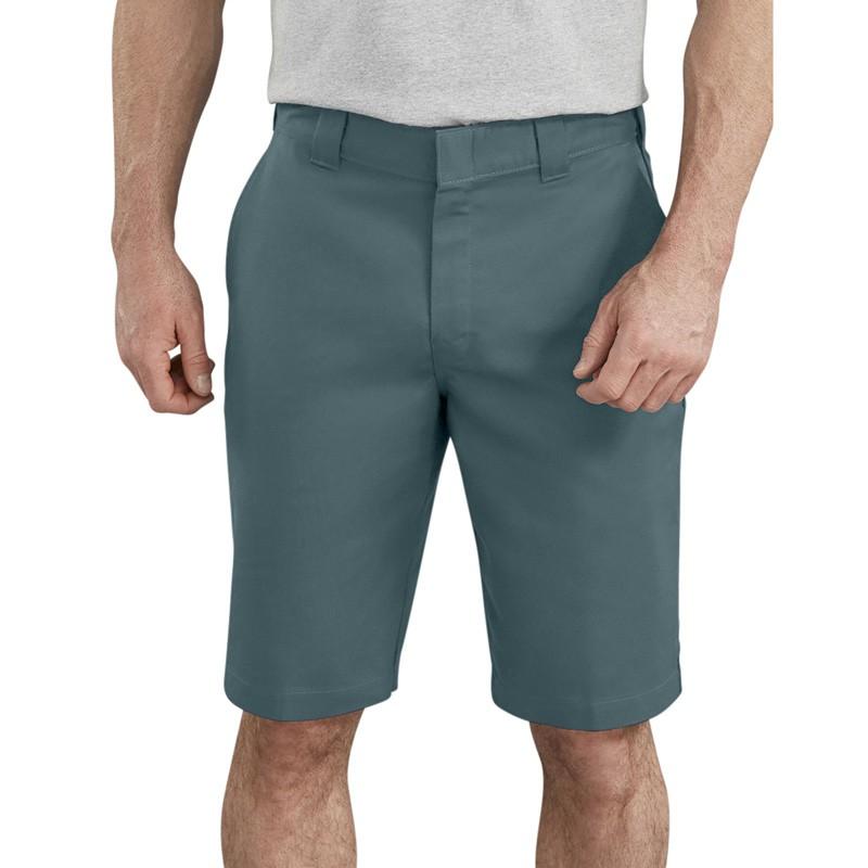 DICKIES WR860 11吋 FLEX Active Waist Shorts 中低腰斜紋布 工作短褲 (綠色)