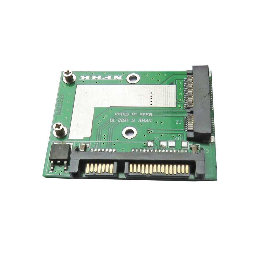 半高/mSATA/5cm/MINI pcie SSD 轉半高2.5寸介面 SATA3轉接卡 9大陸直購 少量現貨