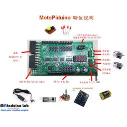 Motoduino(慧手科技): 樹莓派 Raspberry/Banana Pi 擴充板可做機器人 Arduino