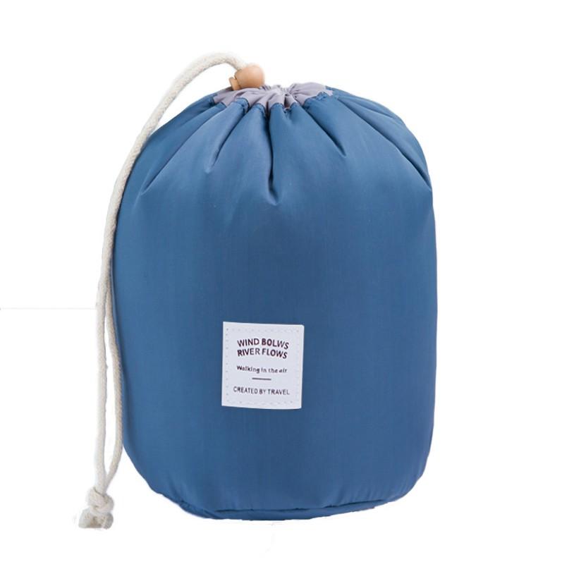 韓版大容量圓筒化妝包防水旅行包梳洗包收納包【B011】