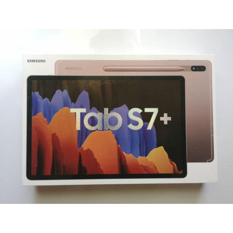 二手附發票SAMSUNG Galaxy Tab S7+(Wi-Fi)12.4 吋平板 (128GB)金色 可台北面交
