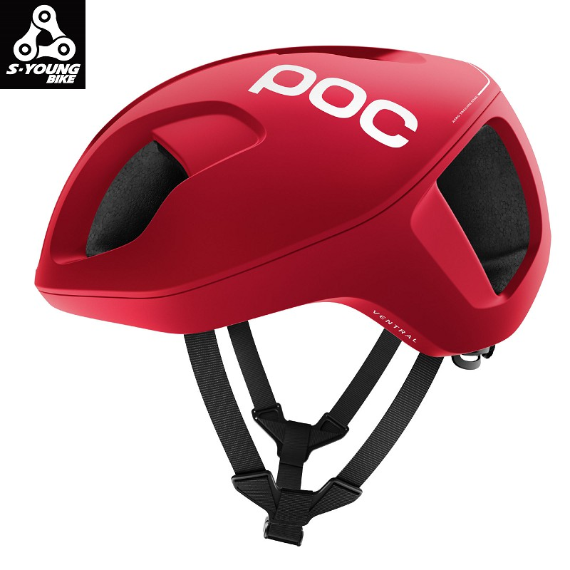 巡揚單車 -【POC】Ventral Spin 公路車一級安全帽 紅 M/L號 輕量化空力帽 可調式包覆系統 安全帽