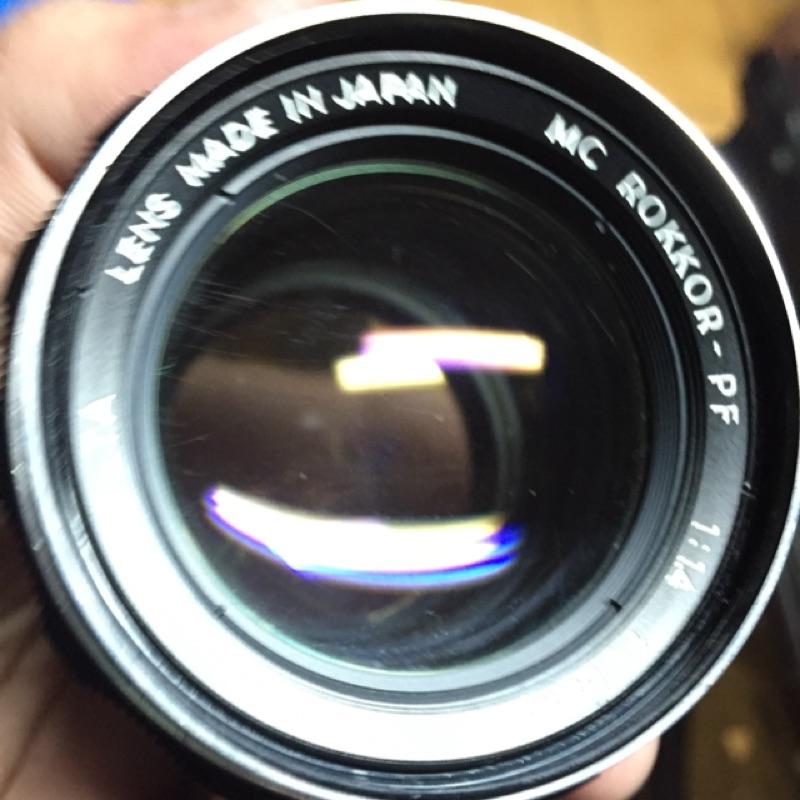 鏡頭 58mm f1.4 Minolta mc pF 光圈故障 鏡頭 手動