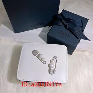 APM Monaco珍珠單只耳釘女純銀鑲晶鉆個性時尚別針耳環耳飾潮‼個性簡約!s925純銀耳針 單只 單只耳環 台北市
