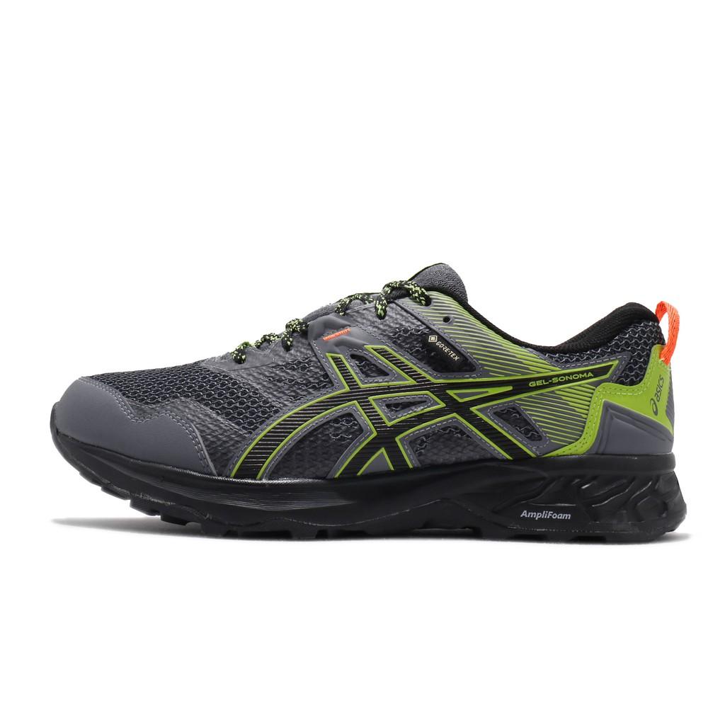 Asics 慢跑鞋 Gel-Sonoma 5 GTX 灰 綠 男鞋 防水 1011A660-020 亞瑟士 【ACS】