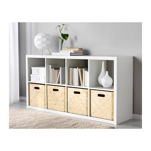北歐工業LOFT風格經典IKEA宜家KALLAX層架組/櫥櫃邊櫃收納架收納櫃/白色/二手八成新/特$1500