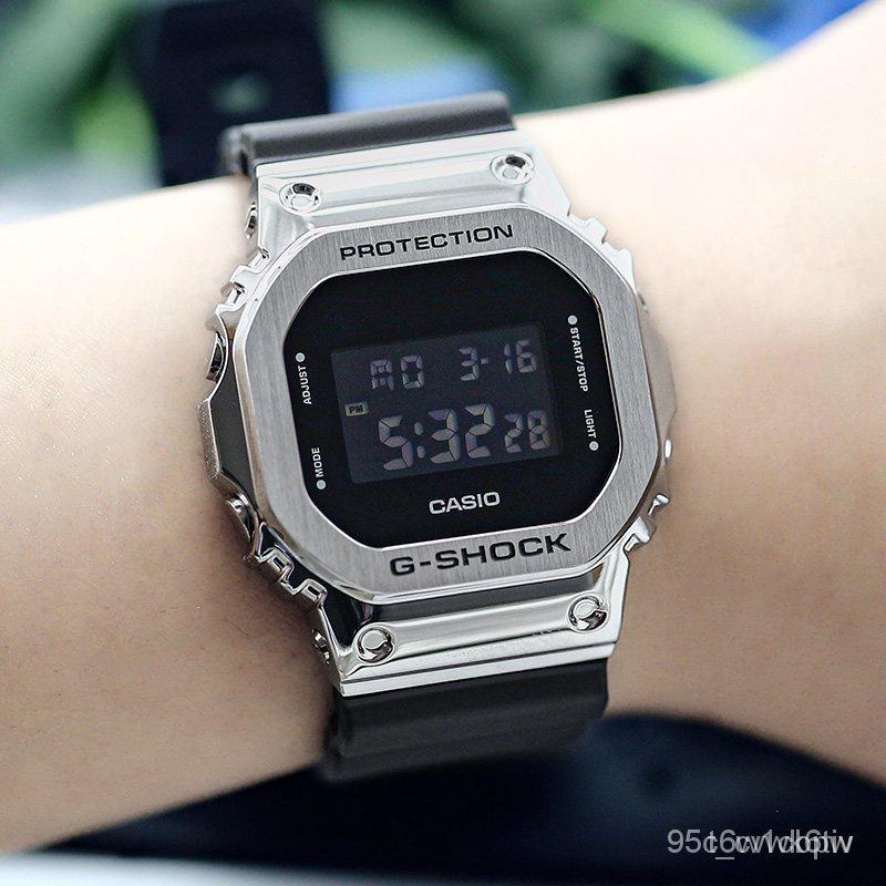 新款卡西歐G-SHOCK GM-5600-1/B-1/3/S5600/G-7/PG-4電子運動男腕手錶 lAUx V2J