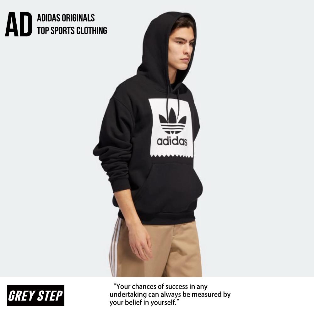 Adidas 愛迪達 三葉草 連帽外套 帽T 休閒外套 外套 男 黑 EC7323 全新正品 統一發票 快速出貨