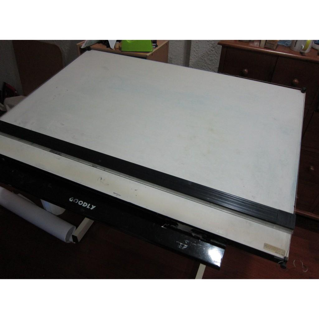 二手 A0製圖桌、含腳架、平行尺、磁性面板,適合建築科  室內設計科 學生    室內設計乙級技術士 製圖桌 自取
