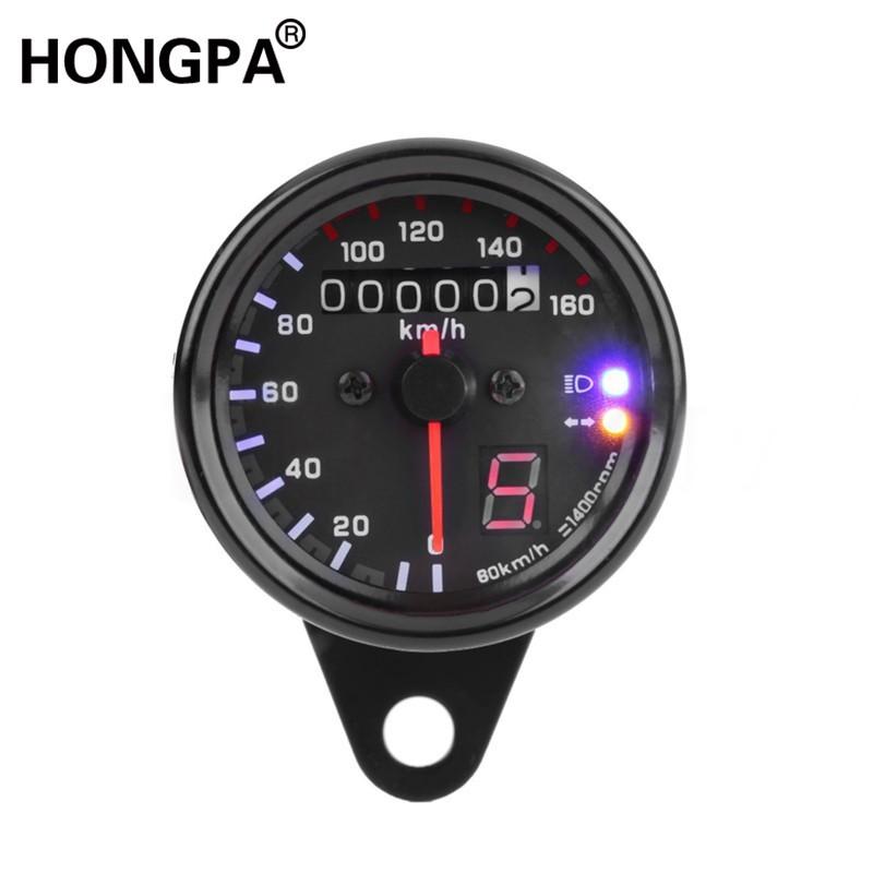 &HONGPA&機車儀表 檔車 圓形 復古時速表 轉速表 空檔燈 儀表 小表 里程表 Ktr 愛將 雲豹 金旺My150