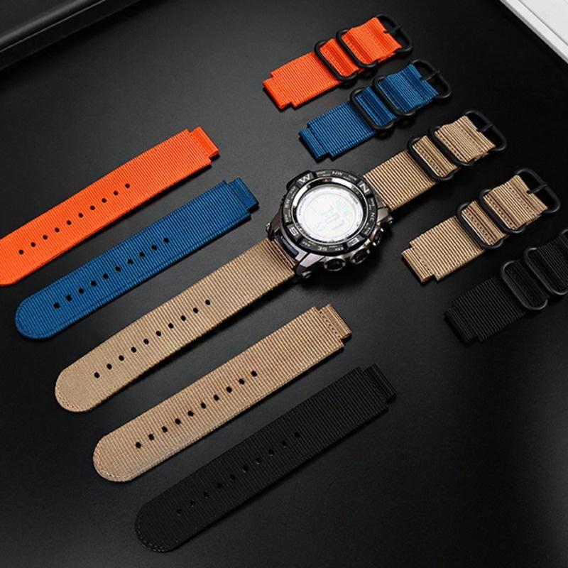 【現貨】卡西歐Casio錶帶PROTREK PRW-2500T/3500/5000/5100/2000 尼龍錶帶18mm