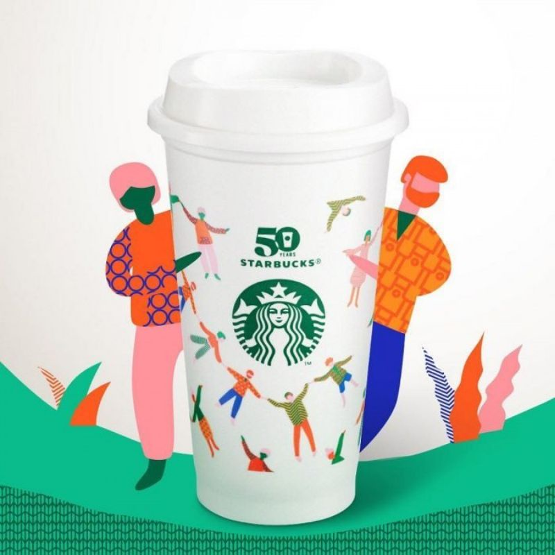 星巴克克50週年紀念Reusable Cup 50週年紀念 星巴克50 環保杯