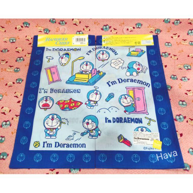 🍭現貨🍭 日本製 哆啦a夢 Doraemon 小叮噹  深藍手帕-1
